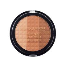 Makeup Revolution Ultra Bronze, shimmer and highlighter