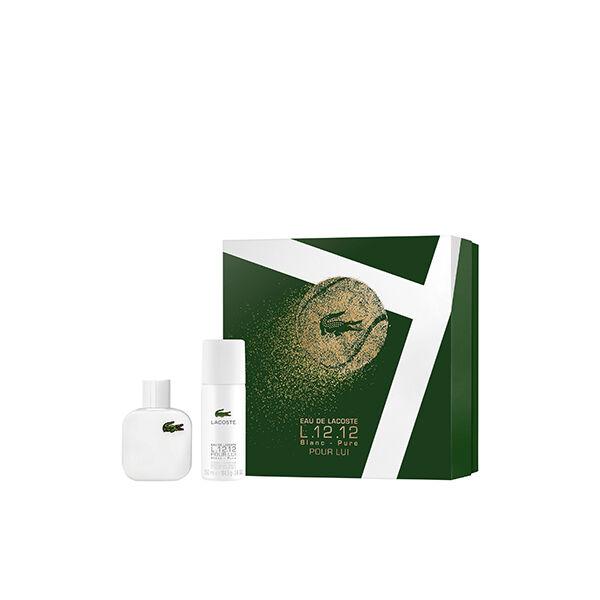Lacoste L.12.12 Blanc EdT Szett Férfiaknak Ajándék Deo Spray-vel