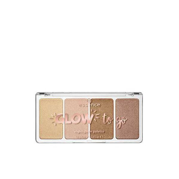 essence glow to go highlighter paletta 10