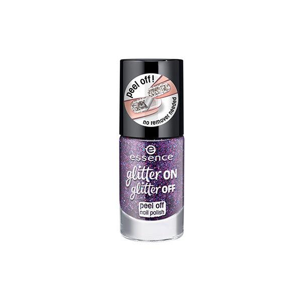 essence glitter on glitter off peel off körömlakk 04