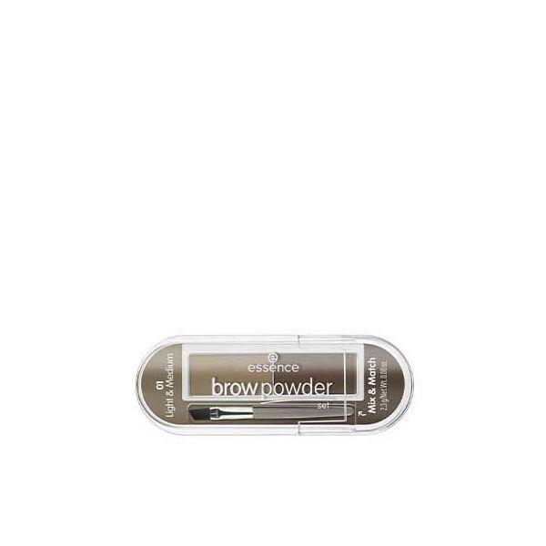 essence brow powder szemöldökpúder szett 01