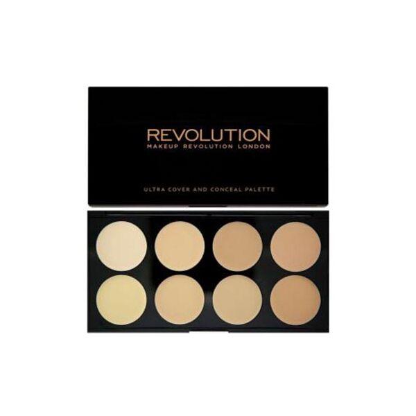 Makeup Revolution Ultra Cover and Concealer Bőrtökéletesítő Paletta Light