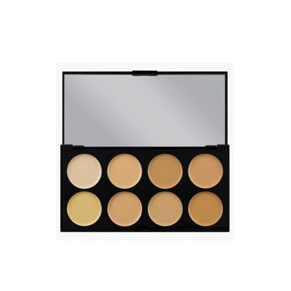 Makeup Revolution Ultra Cover and Concealer Bőrtökéletesítő Paletta Light - Medium