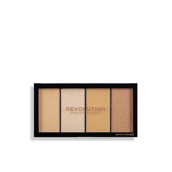 Makeup Revolution Reloaded Lustre Lights Warm Highlighter Paletta