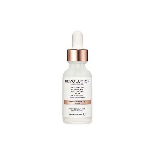 Revolution Skincare 5% Caffeine Solution + Hyaluronic Acid Szemkörnyékápoló szérum koffeinnel és hialuronsavval 30ml