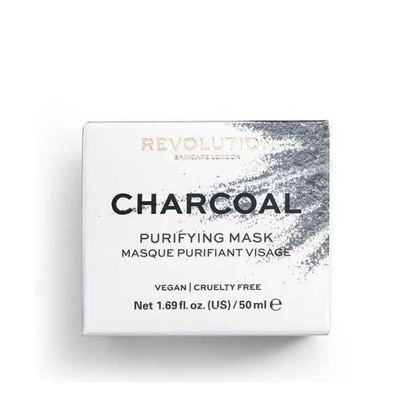 Revolution Skincare Charcoal Aktívszenes Tisztító Arcmaszk 50ml