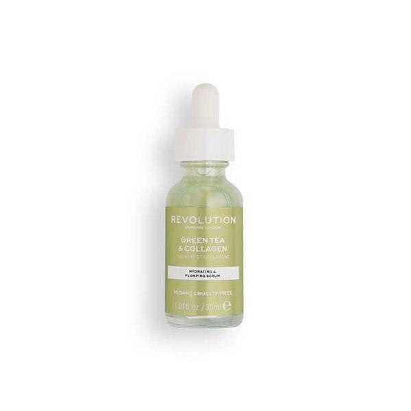 Revolution Skincare Green Tea & Collagen szérum zöldtea kivonattal és kollagénnel 30ml
