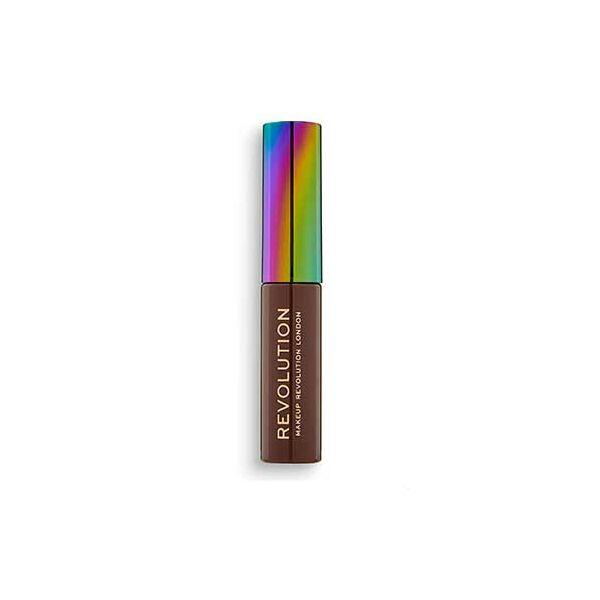 Makeup Revolution Szemöldökspirál kendermagolajjal medium brown