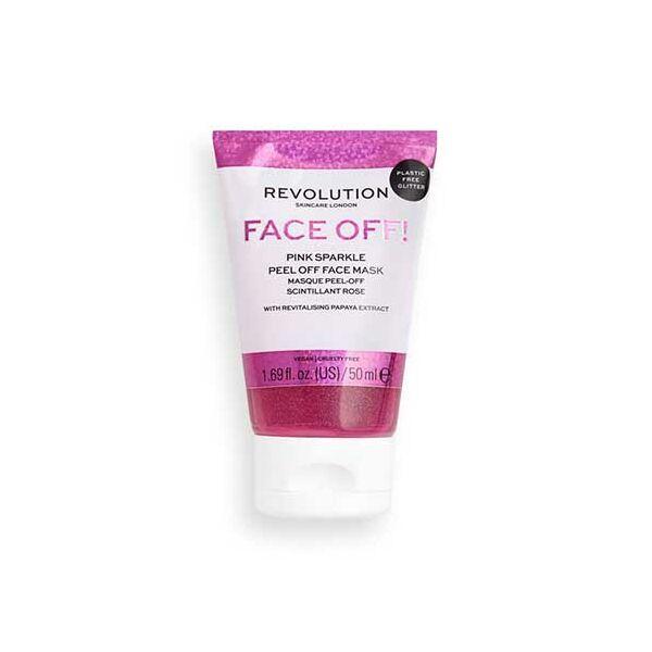 Revolution Skincare Pink Glitter Lehúzható Csillámos Arcmaszk 50ml