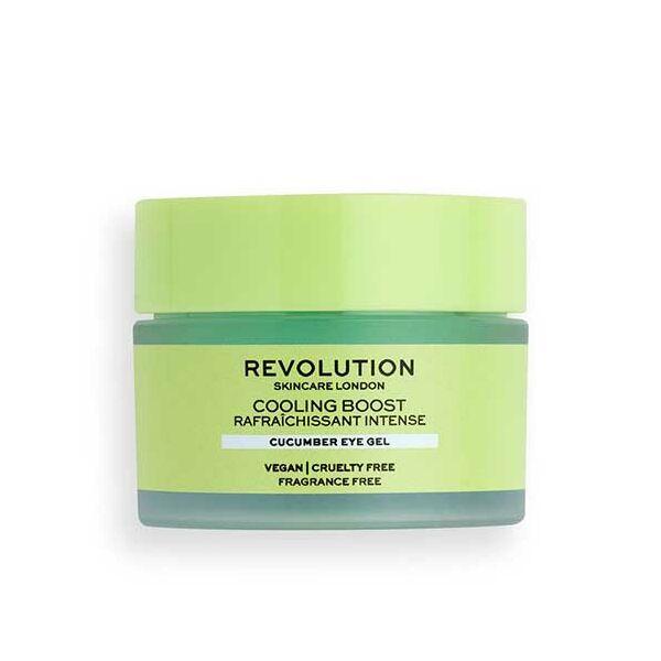 Revolution Skincare Cooling Boost Hűsítő Szemkörnyékápoló gél Uborka kivonattal 15ml