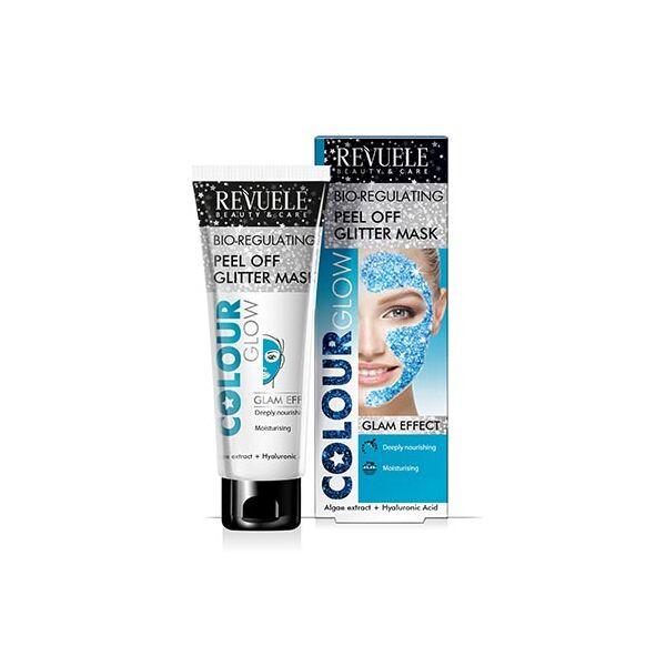 Revuele Colour Glow Hidratáló, Lehúzható Kék Glitter Maszk 80 ml